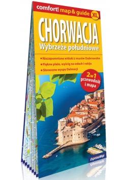 Chorwacja Wybrzeże południowe; laminowany map&guide XL (2w1: przewodnik i mapa)