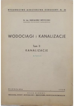 Wodociągi i kanalizacje, tom II, 1948 r.