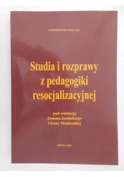 Studia i rozprawy z pedagogiki resocjalizacyjnej