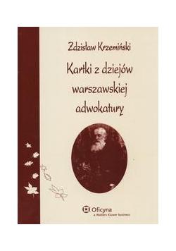 Kartki z dziejów warszawskiej adwokatury