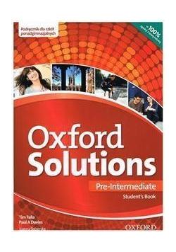 Oxford Solutions Pre-Intermediate SB OXFORD