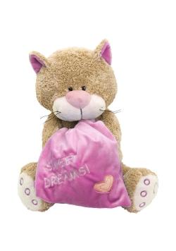 Kot z poduszką 30cm różowy