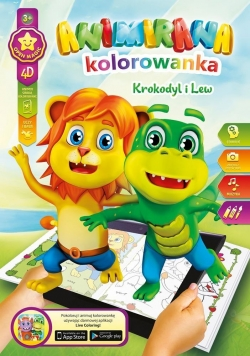Kolorowanka A4/8 4D Lew i Krokodyl