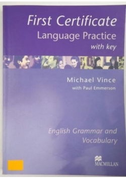First Certificate Language Practise with Key