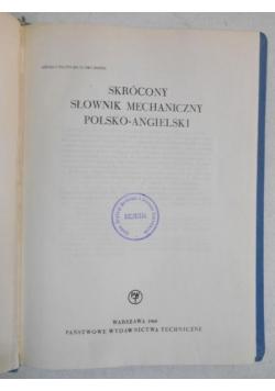 Skrócony słownik mechaniczny polsko-angielski