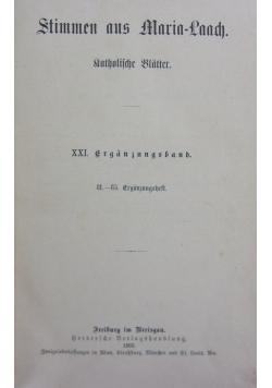 Stimmen aus Maria-Laach XXI band, 1902r.