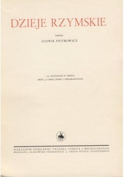 Dzieje Rzymskie, 1934 r.