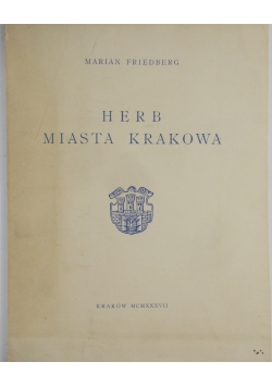 Herb Miasta Krakowa,1937