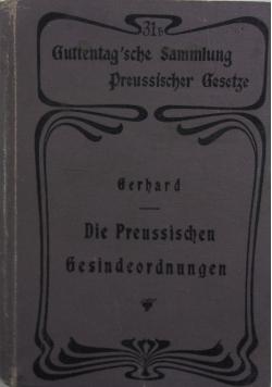 Die Preussischen Gesindeordnungen,1902