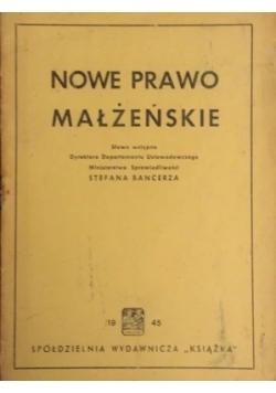 Nowe Prawo Małżeńskie, 1945r