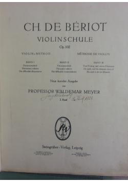 Ch. De Beriot violinschule