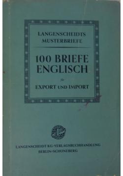 100 Briefe Englisch