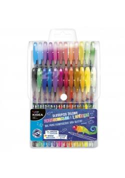 Długopisy żelowe 24 kolory KIDEA