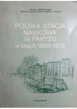 Polska stacja naukowa w Paryżu 1893-1978