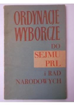 Ordynacje wyborcze do sejmu PRL i rad narodowych