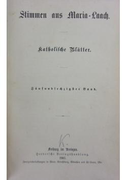 Stimmen aus Maria-Laach. Katholische Blatter, 65. Band, 1903 r.