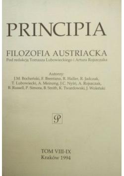 Principia Filozofia Austriacka t:VIII-IX