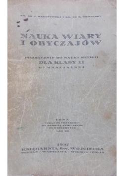 Nauka wiary i obyczajów, 1937 r.