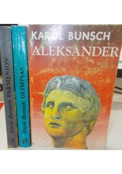 Aleksander / Olimpias / Parmenion, zestaw 3 książek