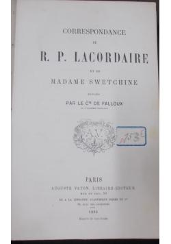 R. P. Lacordaire, 1864 r.