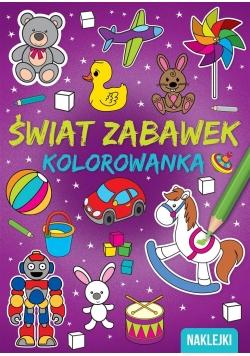 Kolorowanka A4 Świat zabawek