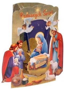 Karnet składany 3D - Radosnych Świąt (wz 6356)