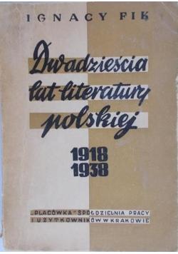 Dwadzieścia lat literatury polskiej 1918-1938, 1949 r.