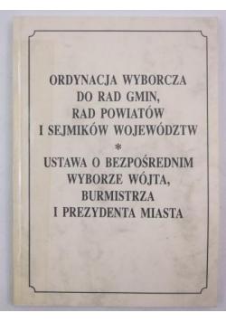 Ordynacja wyborcza do rad gmin, rad powiatów i sejmików województw