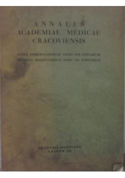 Annales Academiae Medicae Cracoviensis