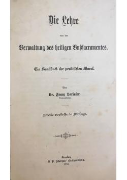 Die Lehre, 1883r.