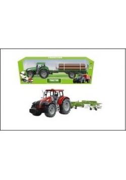 Traktor z kombajnem