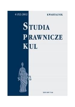 Studia prawnicze KUL, kwartalnik, nr 4/2012