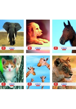 Zeszyt A5/32K linia Animals mix (10szt)