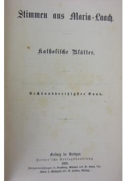 Stimmen aus Marian- Laach, 1889r.