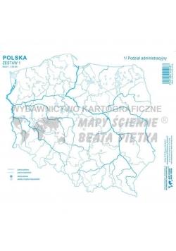 Zestaw I - Polska mapa konturowa (20szt)