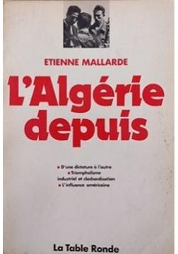 L'Algerie depuis