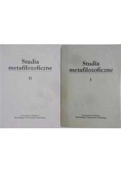 Studia metafilozoficzne, Tom I + Tom II