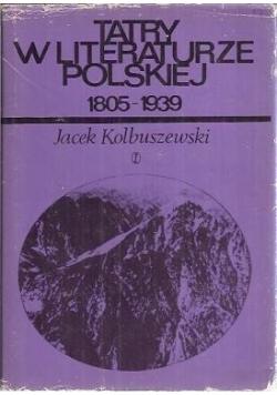 Tatry w literaturze polskiej. 1805-1939
