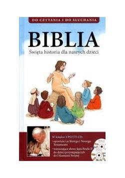 Biblia Święta historia dla naszych dzieci+2 płyty CD