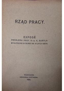 Rząd pracy., 1926r.