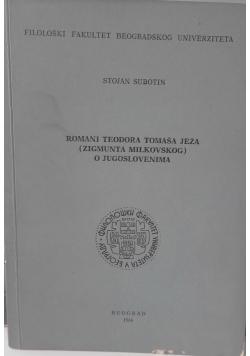 Romani Teodora Tomasa Jeza O Jugoslovenima