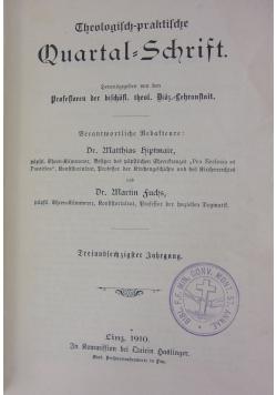 Theologisch-praktische Quartalschrift, 1910 r.