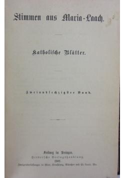 Stimmen aus Maria Laach 62 band, 1902r.