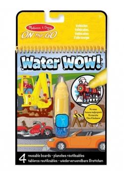 Kolorowanka wodna wielorazowa Pojazdy