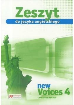 Voices New 4 Zeszyt do jęz. angielskiego MACMILLAN