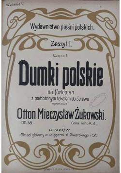 Dumki polskie na fortepian z podłożonym tekstem do śpiewu , około 1950 r.