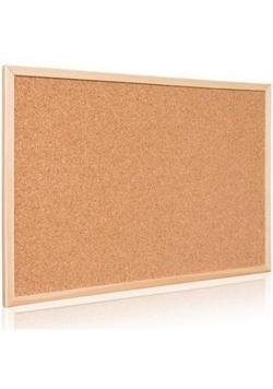 Tablica korkowa w ramie drewnianej 40x30 cm