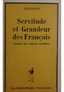 Servitude et Grandeur des Francais ,1945r.