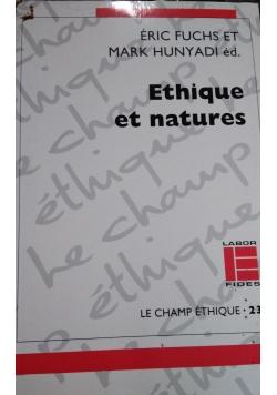Ethique et natures