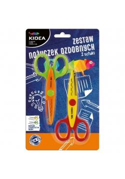 Zestaw 2 nożyczek ozdobnych KIDEA